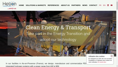 Site internet de Alstom Hydrogene SAS