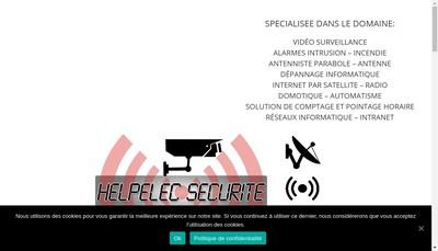 Site internet de Helpelec Securite