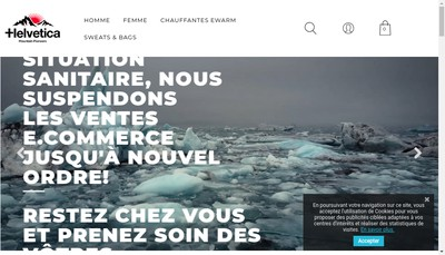 Site internet de Helvetica Spirit