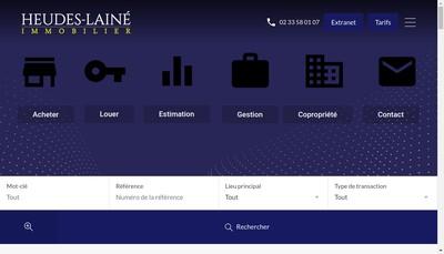 Site internet de Heudes Laine Immobilier
