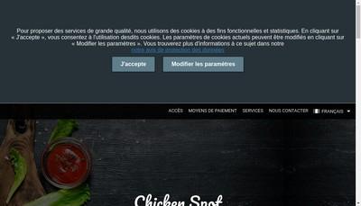Site internet de Chicken Spot