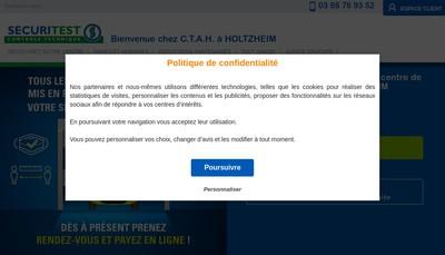 Site internet de Ctah Controle Techn Automobile Holtzheim