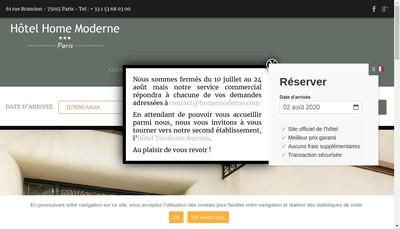 Site internet de Societe Hoteliere du Home Moderne