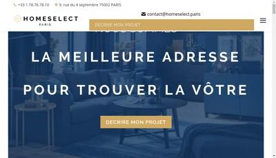 Site internet de Home Select - Votre Chasseur Immobilier
