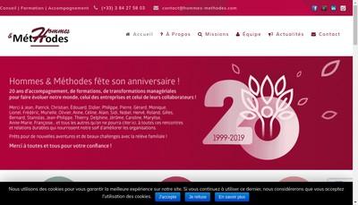 Site internet de Hommes et Methodes