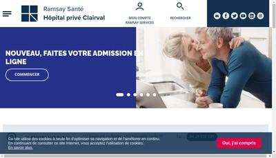 Site internet de Hopital Prive Clairval