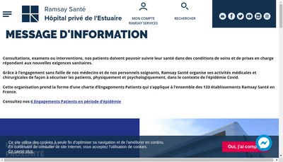 Site internet de Hopital Prive Estuaire
