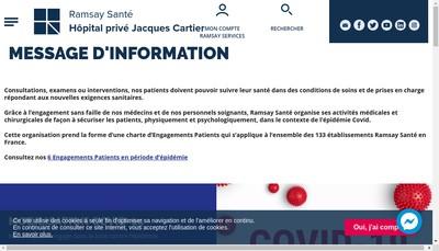 Site internet de Hopital Prive Jacques Cartier