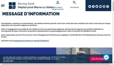 Site internet de Hopital Prive de Marne la Vallee