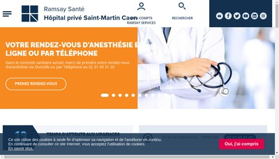 Site internet de Radiologie Saint Martin