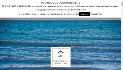Site internet de Hotel Athenee