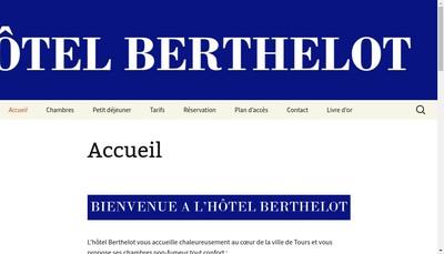 Site internet de Hotel Berthelot