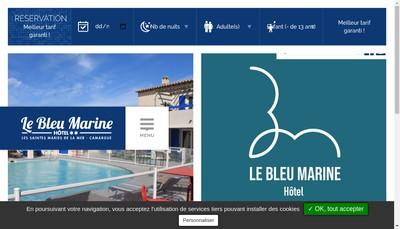 Site internet de Le Bleu Marine