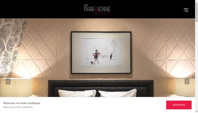 Site internet de Hotel la Parizienne