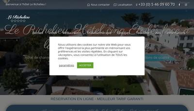 Site internet de Le Richelieu - la Jolie Brise
