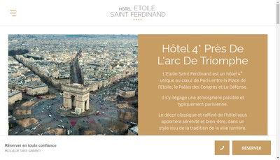 Site internet de Hotel Etoile Saint Ferdinand