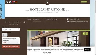 Site internet de Hotel St Antoine