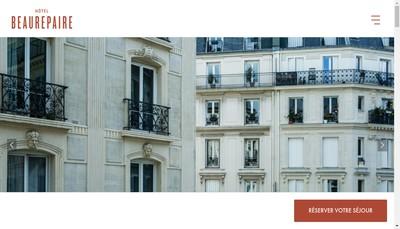 Site internet de Hotel Beaurepaire