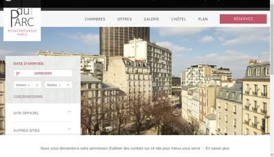 Site internet de Hotel du Parc