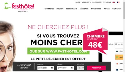 Site internet de Fasthotel