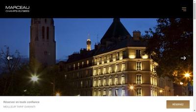 Site internet de Hotel Marceau Champs Elysees
