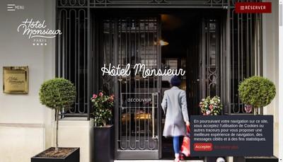 Site internet de Hotel Monsieur