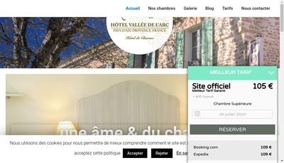 Site internet de Hotel de la Vallee de l'Arc