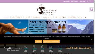 Site internet de Les Joyaux de Madagascar