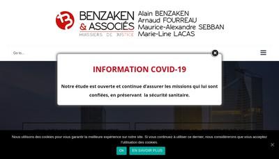 Site internet de SCP Alain Benzaken - Arnaud Fourreau - Maurice-Alexandre Sebban - Marie-Line Lacas