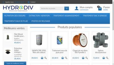 Site internet de Hydrodiv