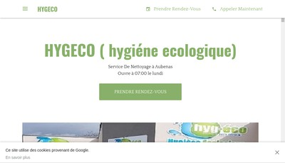 Site internet de Hygeco Drome-Ardeche-Provence