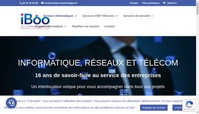 Site internet de Iboo Technologie Concept Tic Tech Sce