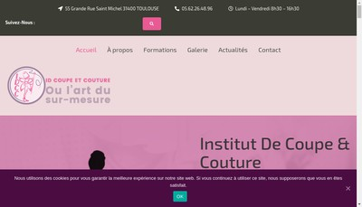Site internet de Couture Creative