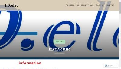 Site internet de ID Elec