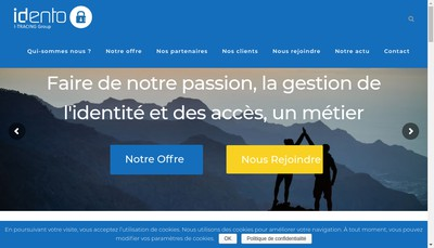 Site internet de Idento