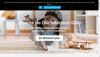 Site internet de Igienair