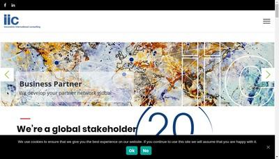 Site internet de Innovative International Consulting