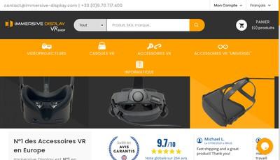 Site internet de Immersive Display