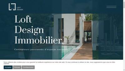 Site internet de Loft Design Immobilier
