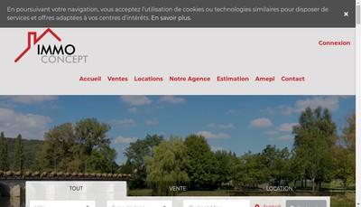 Site internet de SARL Immo Concept