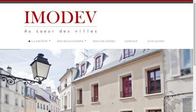 Site internet de Imodev