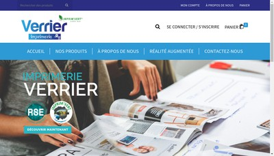 Site internet de Imprimerie Verrier