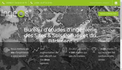 Site internet de Ingeos Ingenierie Environnement Conseil