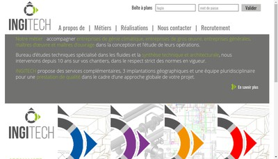 Site internet de Ingitech Concept