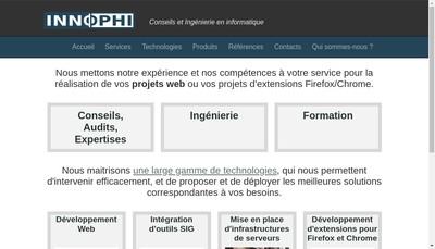 Site internet de Innophi