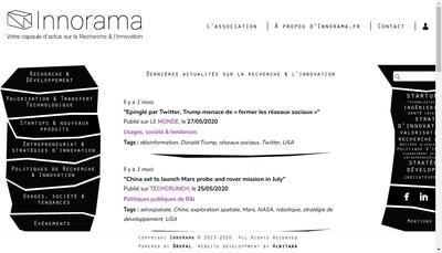 Site internet de Innorama