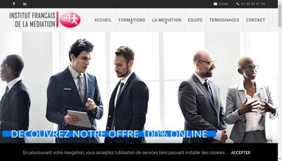 Site internet de Institut Français de la médiation