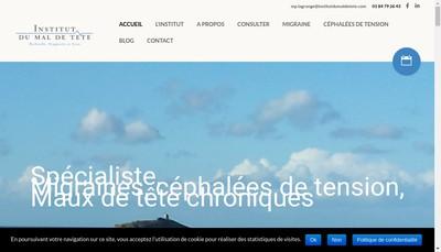 Site internet de Institut du Mal de Tete