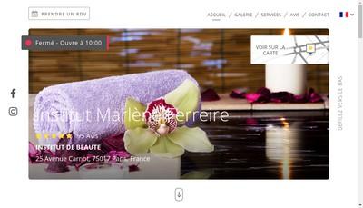 Site internet de Institut de Beaute Marlene Ferreire