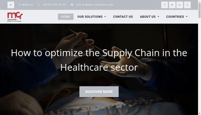 Site internet de MCR Solutions